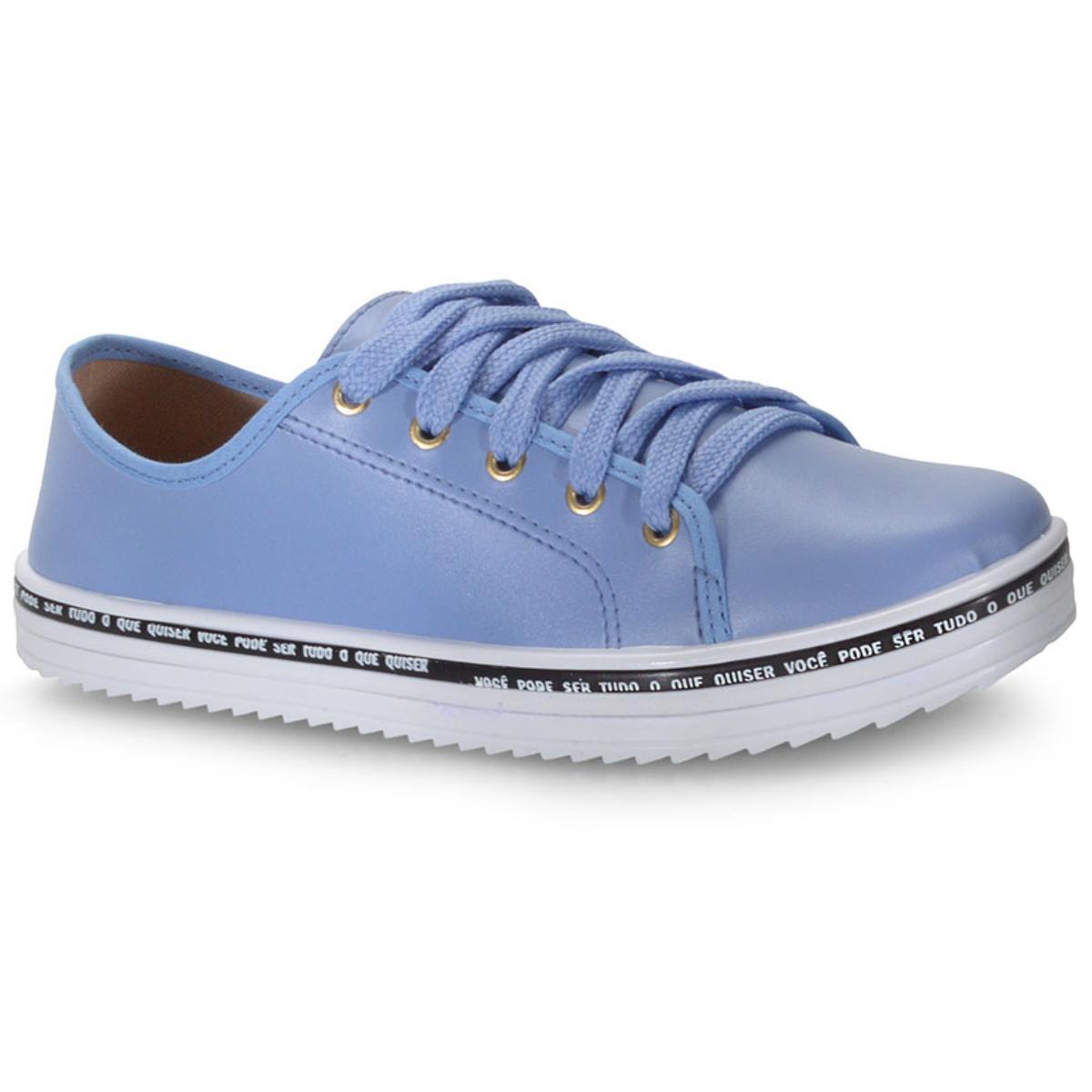 Tênis Feminino Moleca 5688201 Jeans