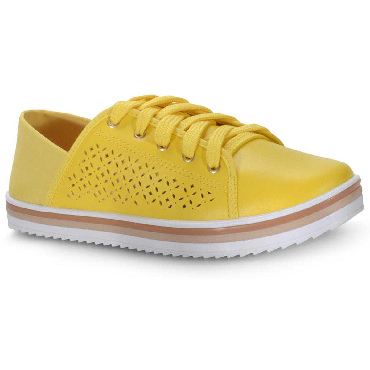 Tênis Feminino Moleca 5688103 Amarelo