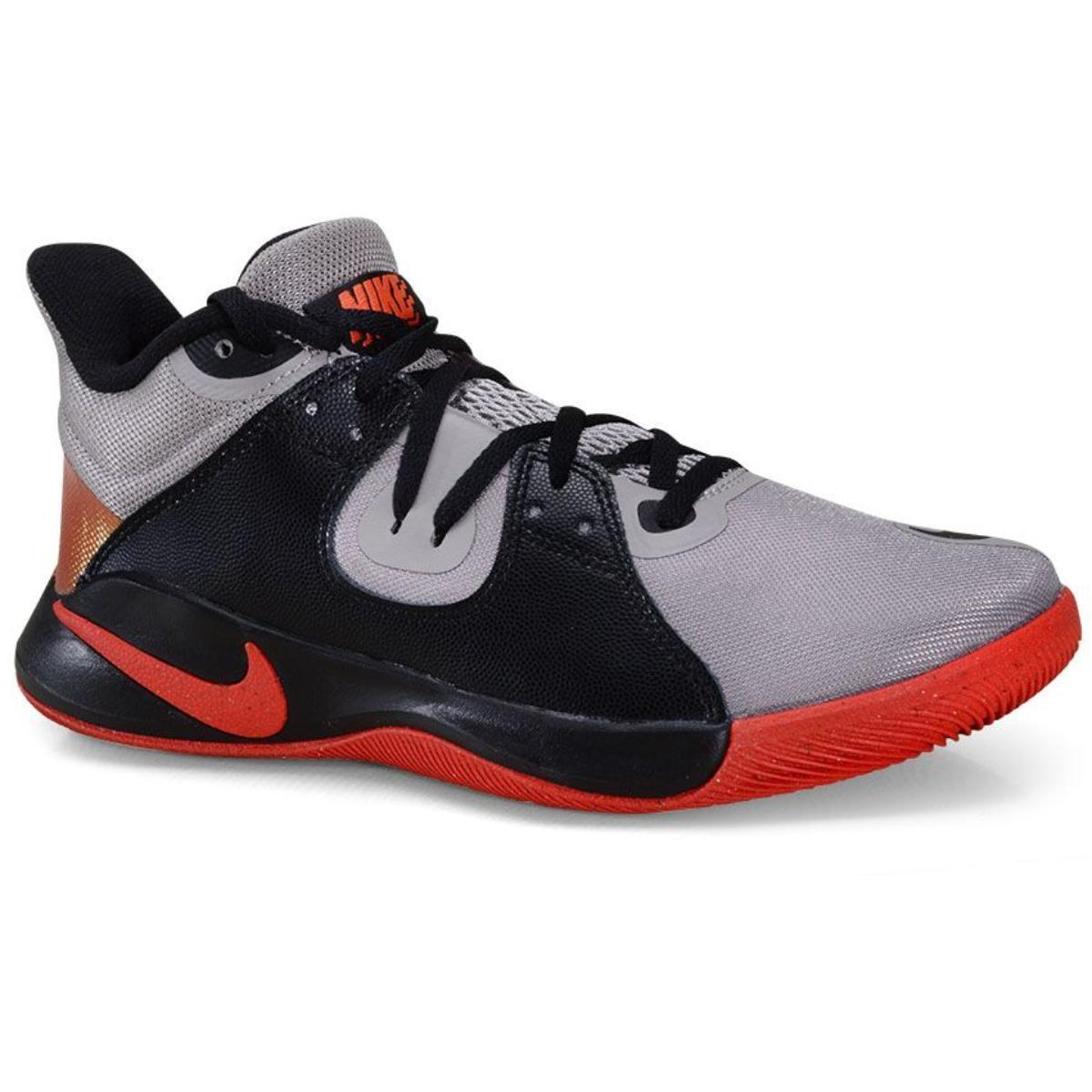 Tênis Masculino Nike Cd0189-006 Flyby Mid Cinza/preto/vermelho