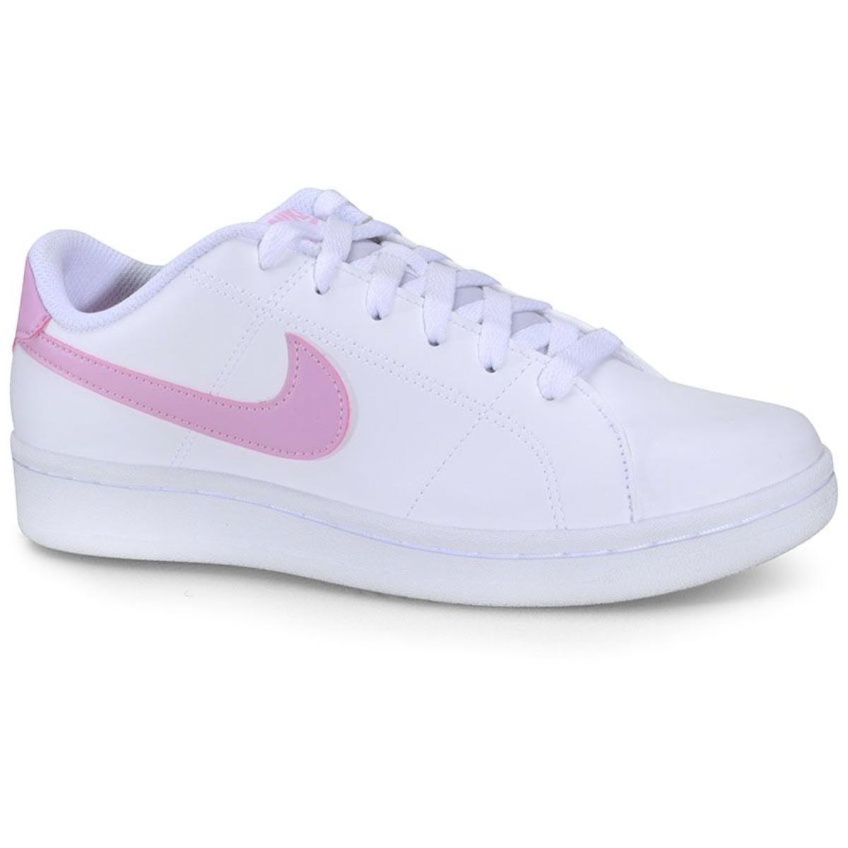 Tênis Feminino Nike Cu9038-101 Court Royale 2 Branco/rosa