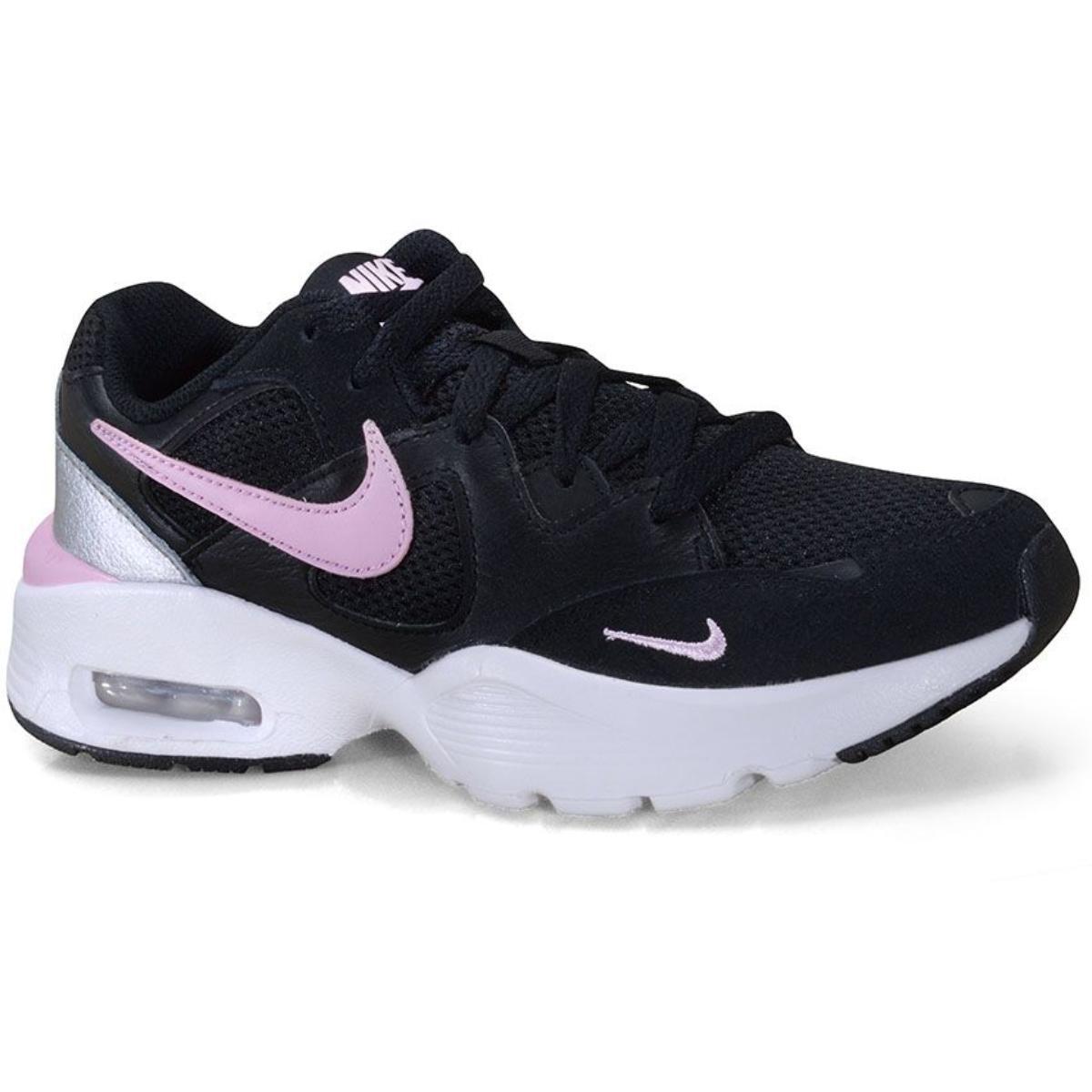 Tênis Feminino Nike Cj1671-005  Air Max Fusion Preto/branco/pink