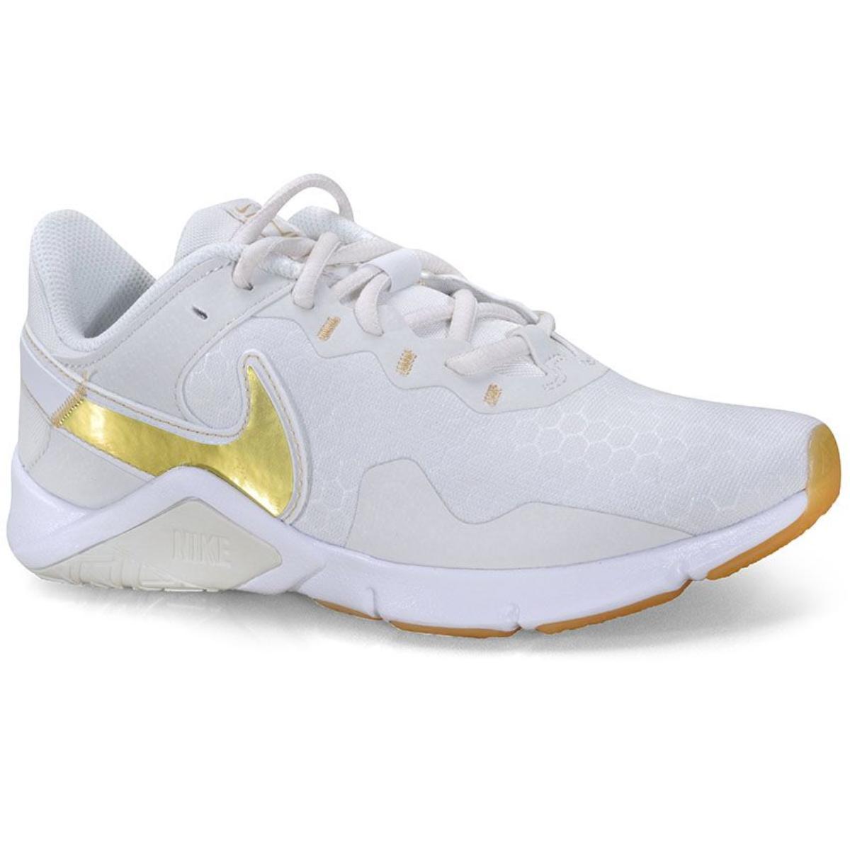 Tênis Feminino Nike Cq9545-010 Legend Essential 2  Gelo/dourado