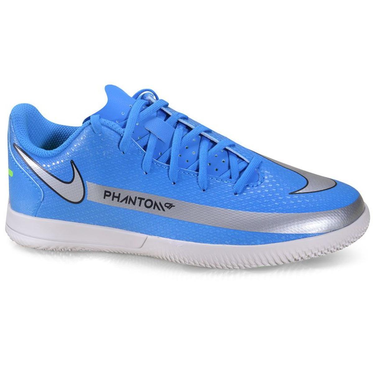 Tênis Masc Infantil Nike Ck8481-400 jr Phantom gt Club ic Azul/cinza