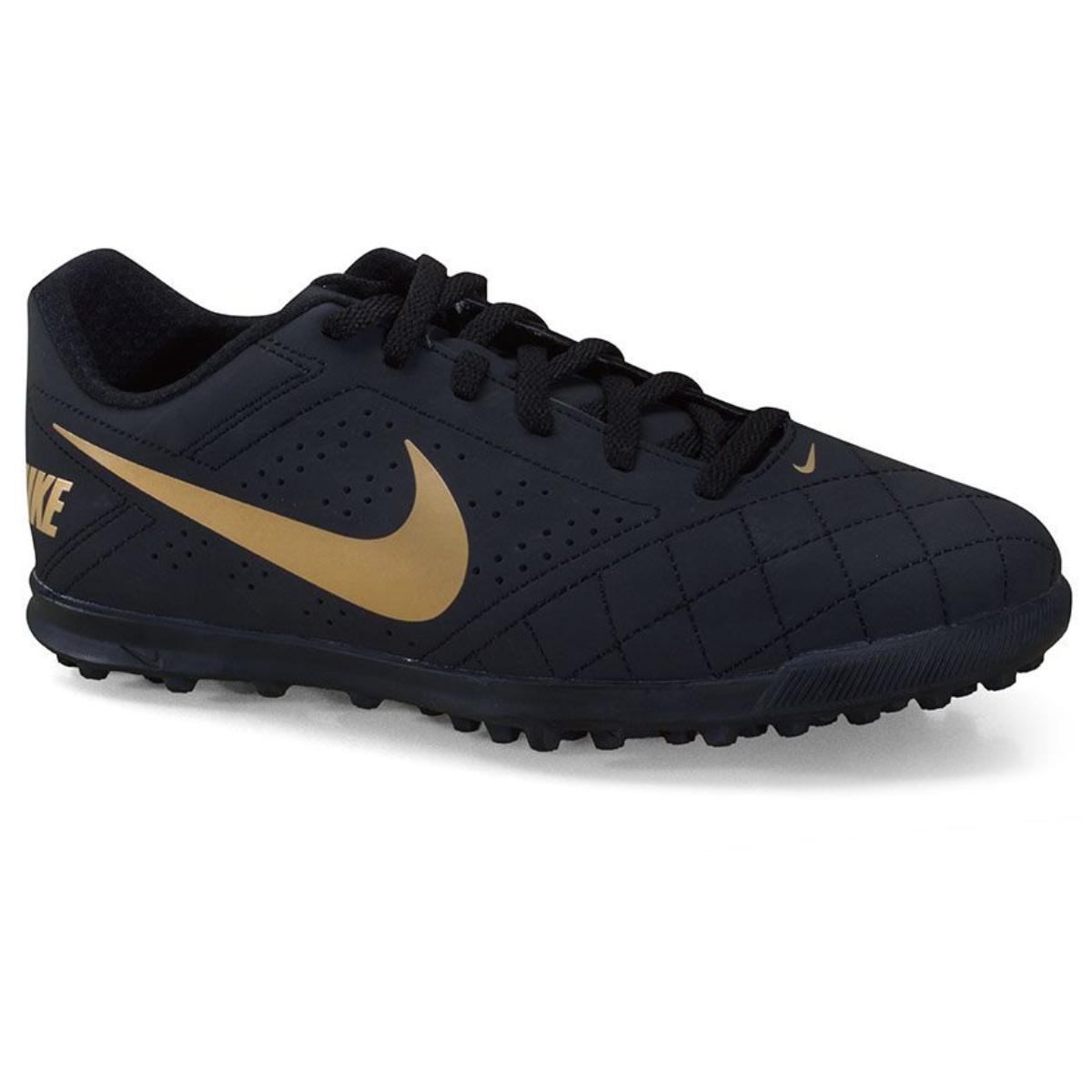 Tênis Masculino Nike Cz0446-071 Beco 2 tf Preto/dourado