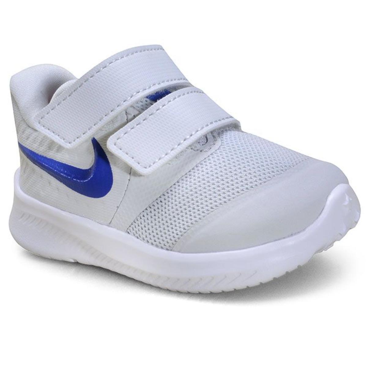 Tênis Masc Infantil Nike At1803-013 Star Runner 2 Cinza/azul