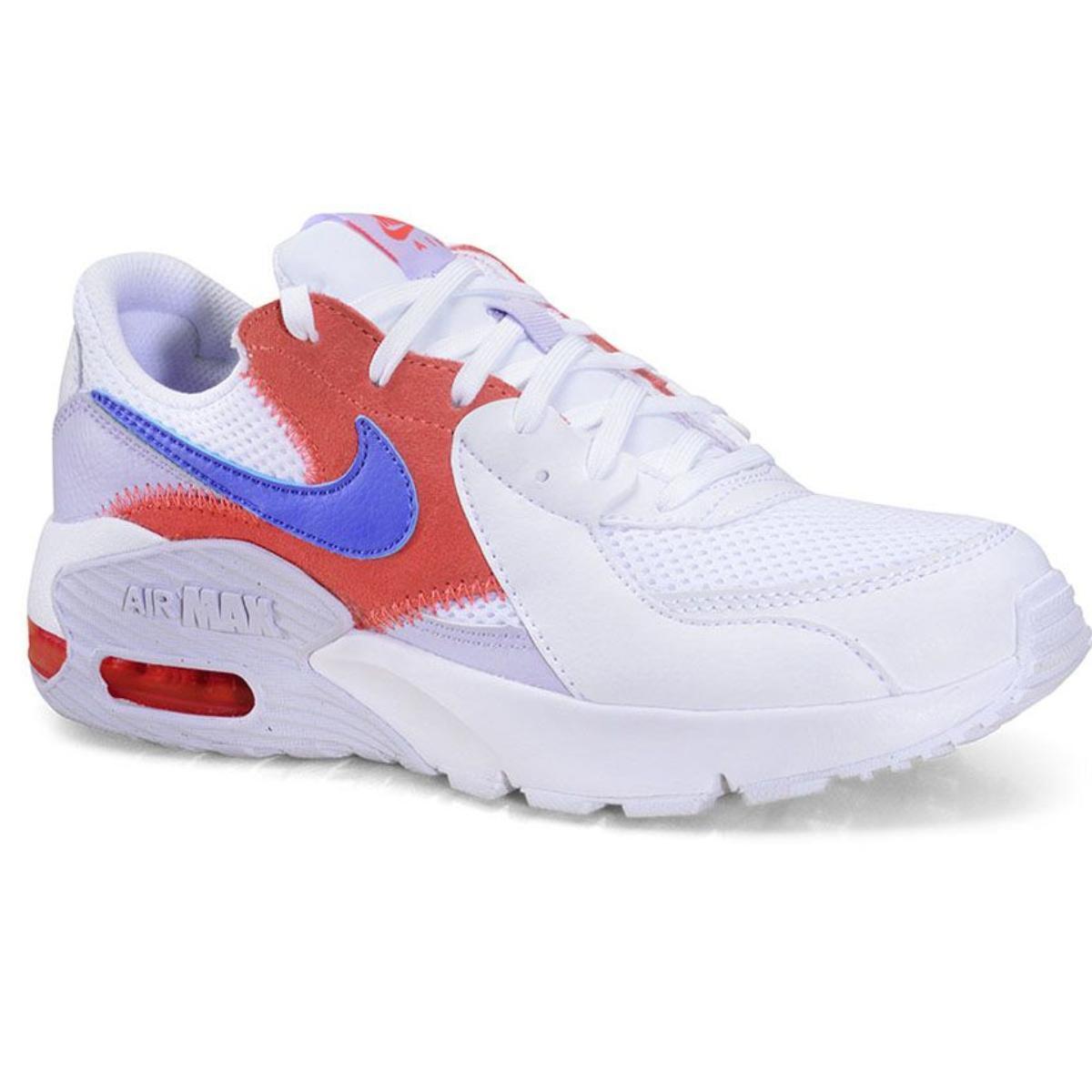 Tênis Feminino Nike Cd5432-115 Air Max Branco/lilas/cereja