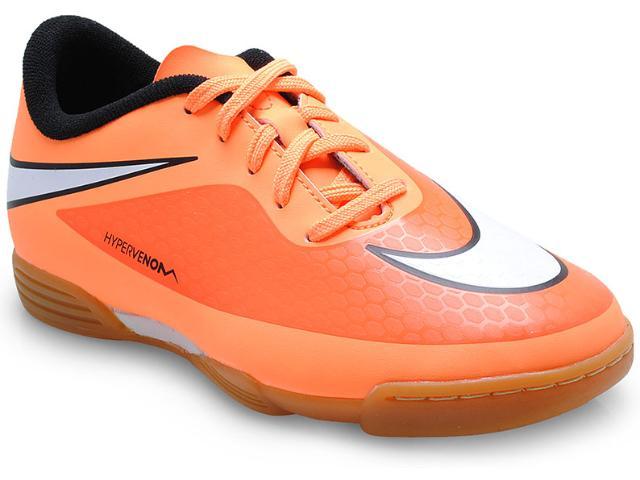 Tênis Masc Infantil Nike 599842-800 jr Hypervenom Phade ic Laranja Neon/preto