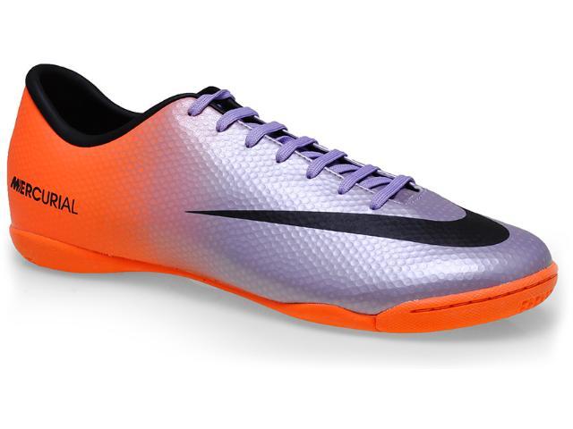 Tênis Masculino Nike 555614-508 Mercurial Victory iv ic Roxo/laranja