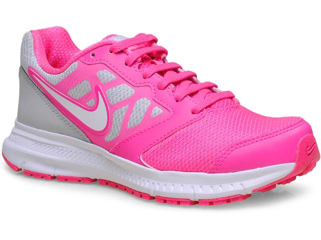 Tênis Feminino Nike 684771-600 Wmns Downshifter 6 Msl Rosa Neon/branco