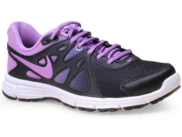 Tênis Feminino Nike 725163-032 Wmns Revolution 2 Msl pr  Preto/lilas