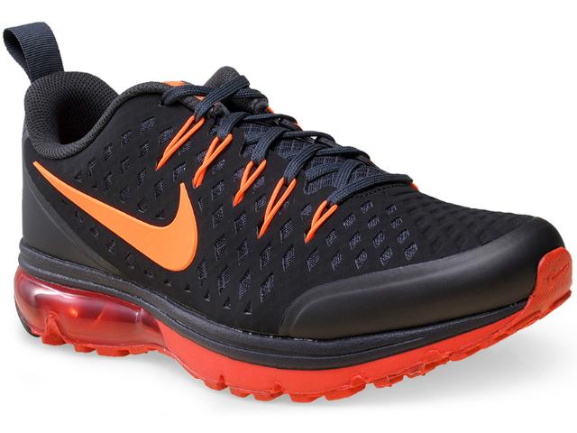 Tênis Masculino Nike 706993-006 Air Max Supreme 3  Preto/laranja/vermelho