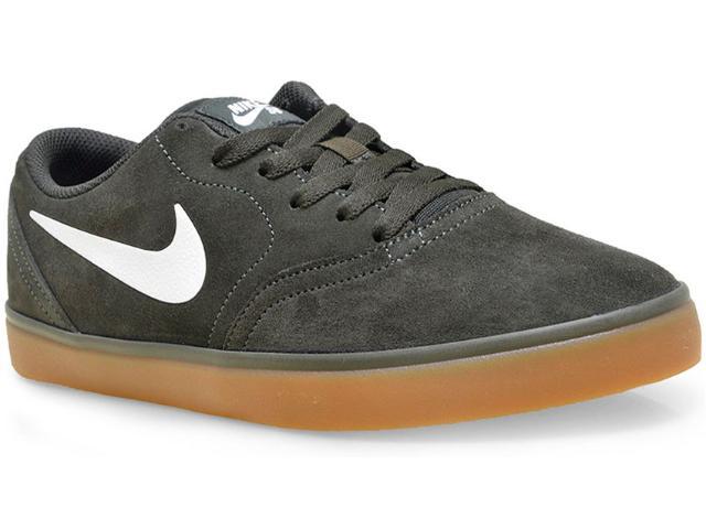 Tênis Masculino Nike 705265-312 sb Check Verde Musgo