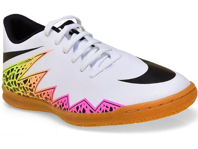 Tênis Masculino Nike 749890-108 Hypervenom Phade ii ic Branco/pink/limão