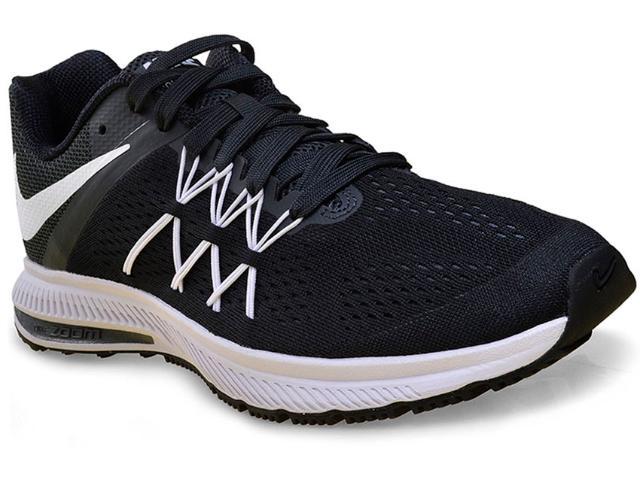 Tênis Masculino Nike 831561-001 Air Zoom Winflo 3  Preto/grafite/branco