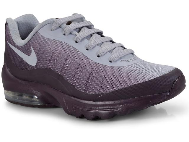 Tênis Feminino Nike 749862-603 Air Max Invigor Bordo/cinza