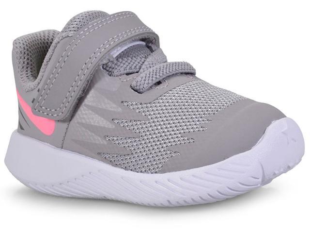 Tênis Fem Infantil Nike 907256-002 Star Runner Cinza/pink