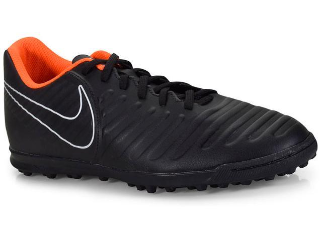 Tênis Masculino Nike Ah7248-080 Tiempo Legendx 7 Club Preto/laranja