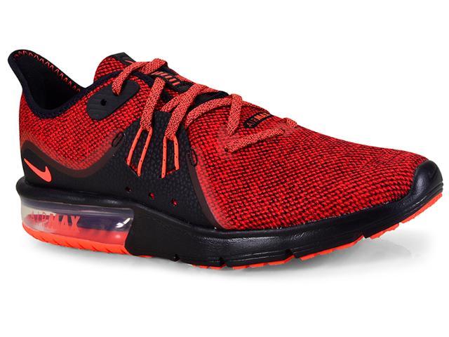 Tênis Masculino Nike 921694-066 Air Max Sequent 3 Vermelho/preto