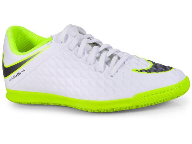 Tênis Masculino Nike Aj3808-107 Hypervenom Phantomx 3 Club Branco/verde Limão