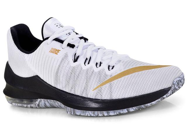 Tênis Masculino Nike 908975-101 Air Max Infuriate 2 Low Branco/preto