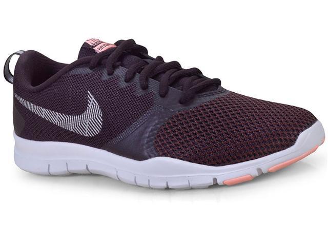 Tênis Feminino Nike 924344-601 Wmns Flex Essential tr Burgundy/branco