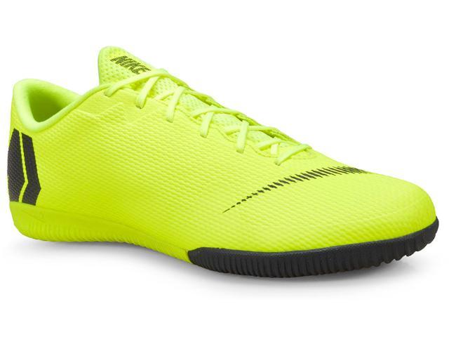 Tênis Masculino Nike Ah7383-701 Vaporx 12 Academy ic Indoor Limão/preto