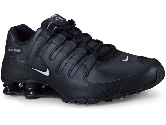 Tênis Masculino Nike 501524-091 Shox nz eu Preto/branco