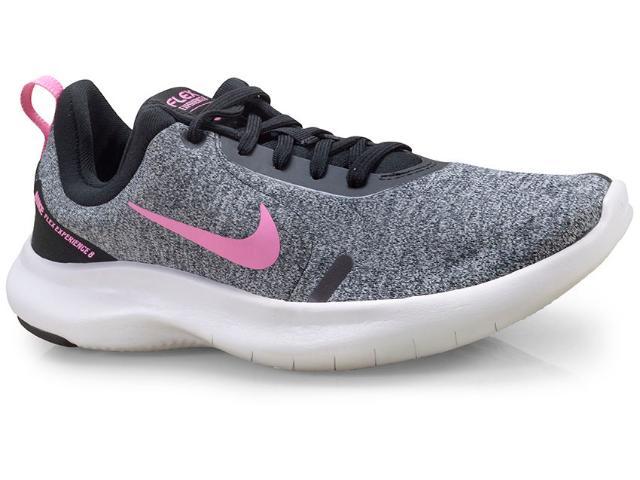 Tênis Feminino Nike Aj5908-003 Flex Experience rn 8 Cinza/preto/rosa