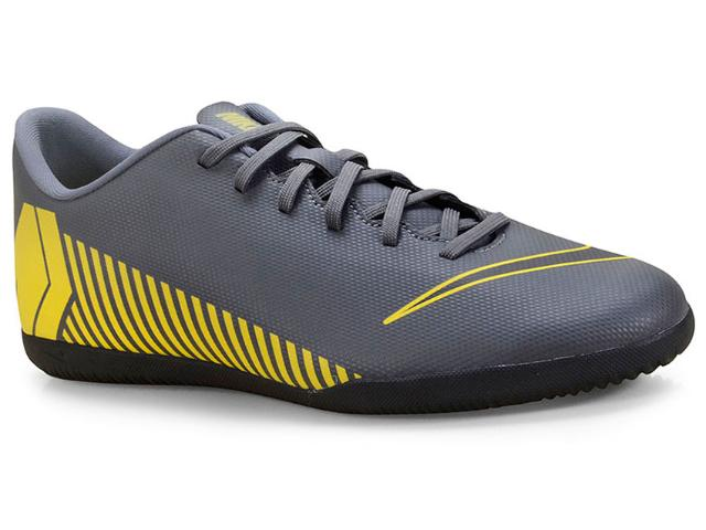 Tênis Masculino Nike Ah7385-070 Mercurial Vaporx 12 Club Cinza/amarelo