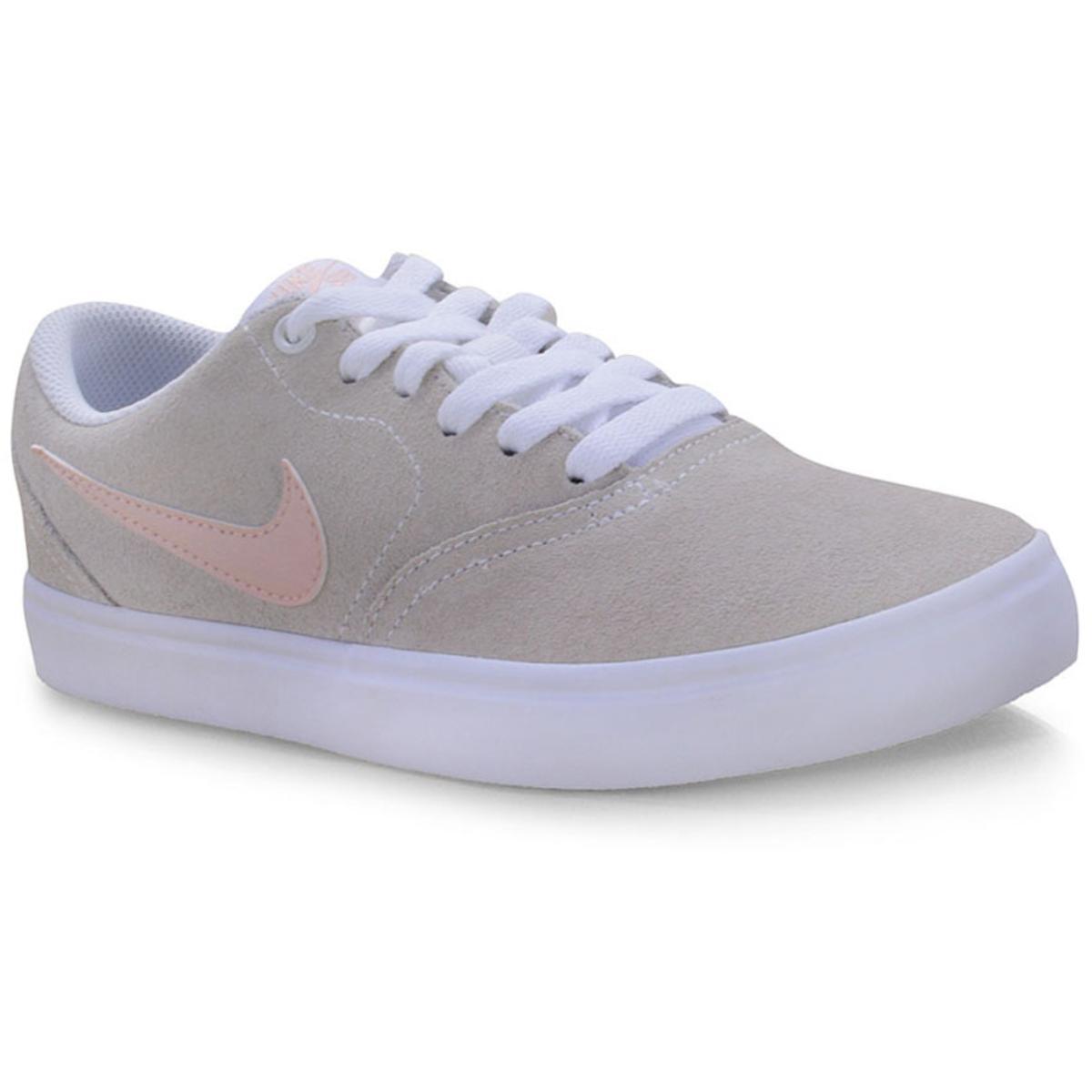 Tênis Feminino Nike Bq3240-100 Wmns sb Check Solar Bege/rose/branco