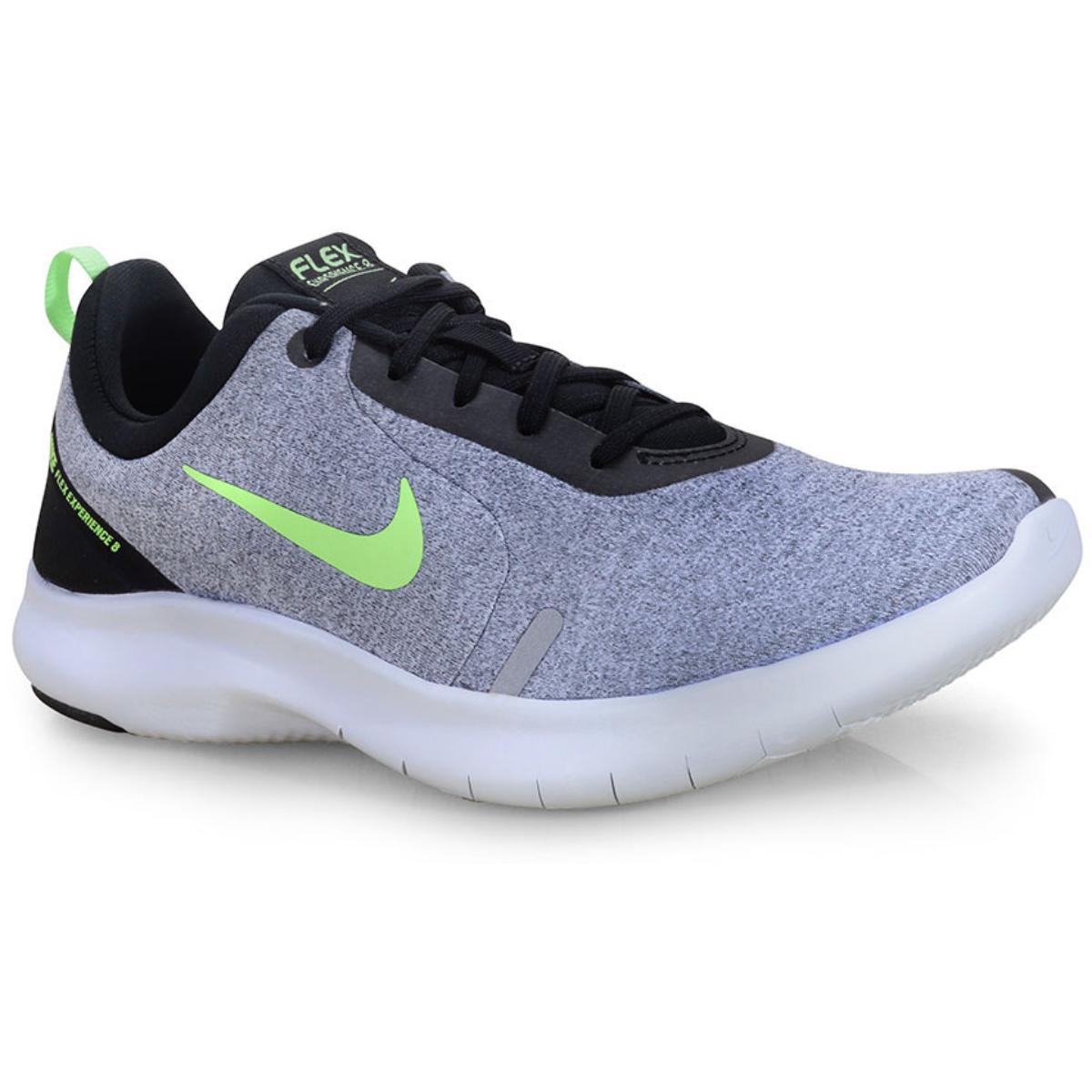 Tênis Masculino Nike Aj5900-002 Flex Experience rn 8 Cinza/limão