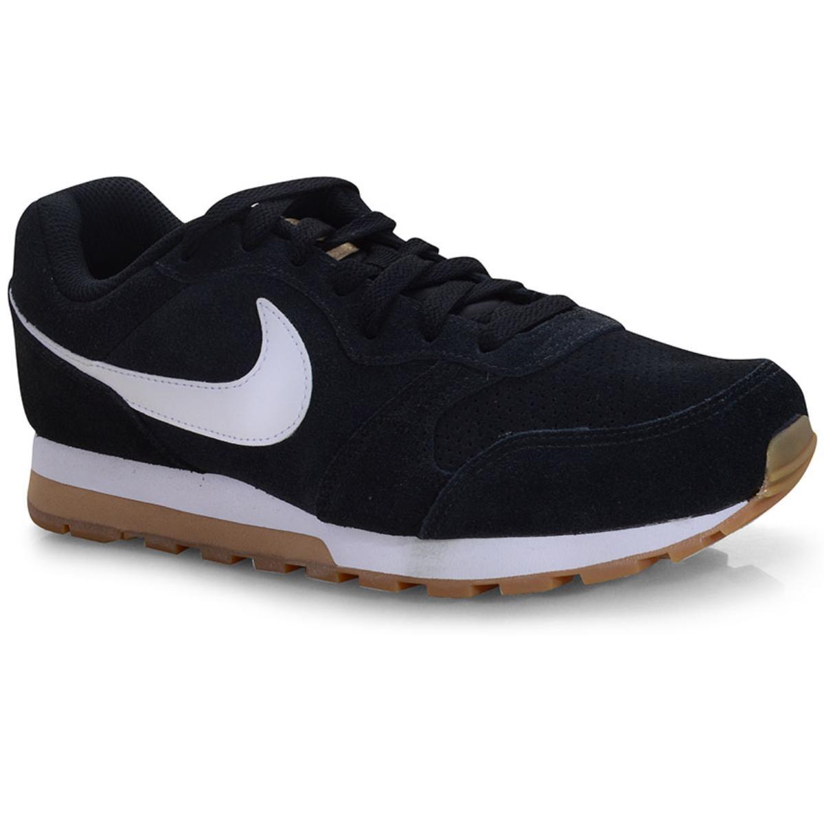 Tênis Masculino Nike Aq9211-001 md Runner 2 Suede Preto/branco
