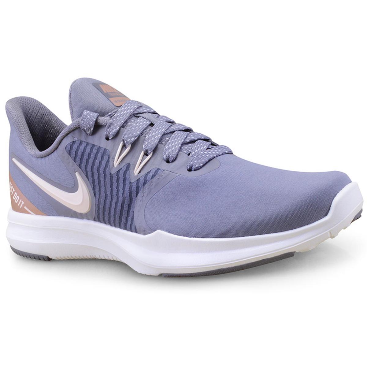 Tênis Feminino Nike Aa7774-002 in Season tr 8 Premium Cinza/bege