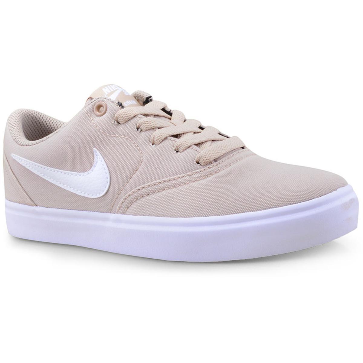 Tênis Feminino Nike 921463-201 sb Check Solar Soft Canvas Bege/branco