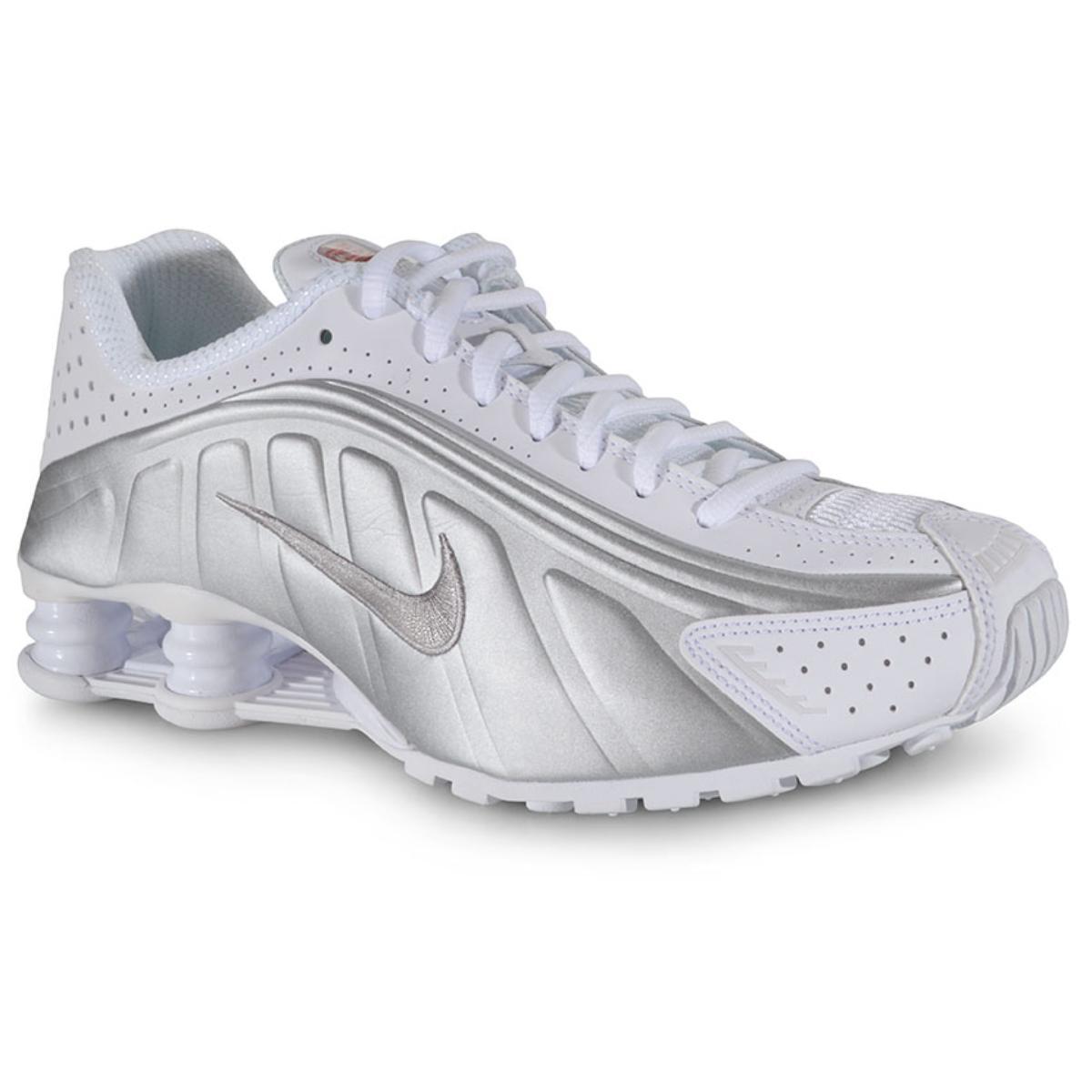 Tênis Masculino Nike 104265-131 Shox r4 Branco/prata