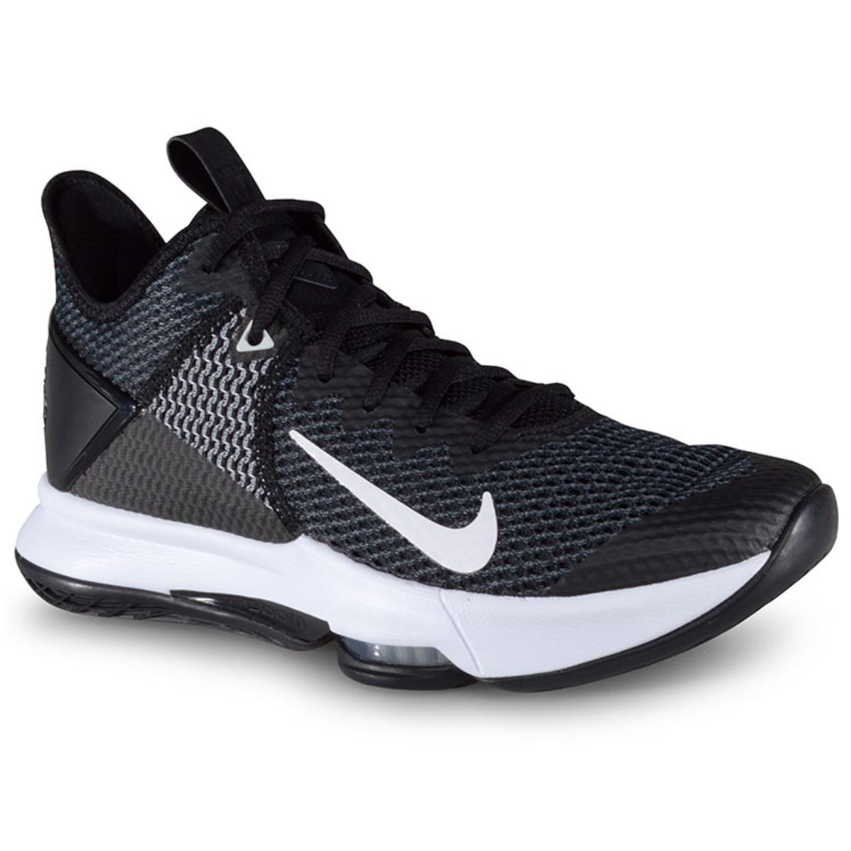 Tênis Masculino Nike Bv7427-001 Lebron Witness iv Preto/branco