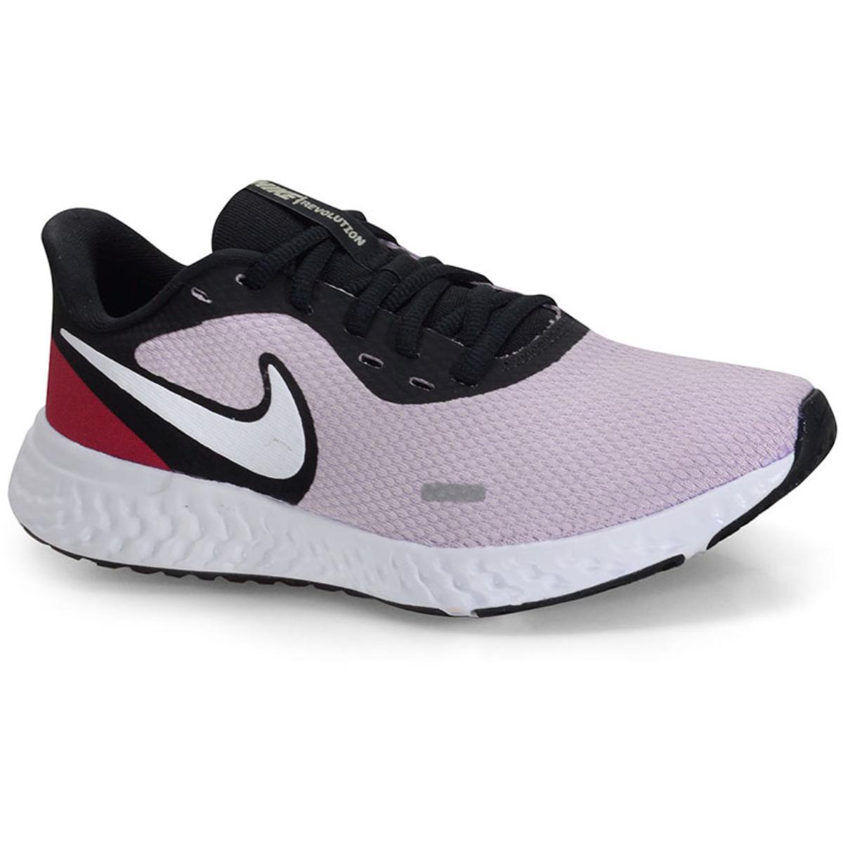 Tênis Feminino Nike Bq3207-501 Revolution 5 Rosa/preto