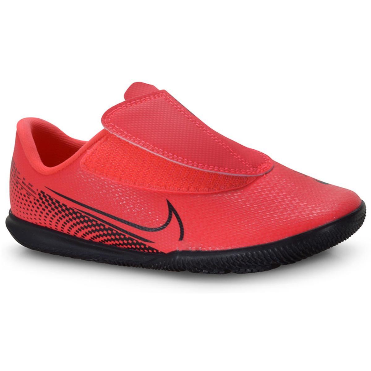 Tênis Masc Infantil Nike At8170-606 Mercurial Vapor 13 Club Coral/preto