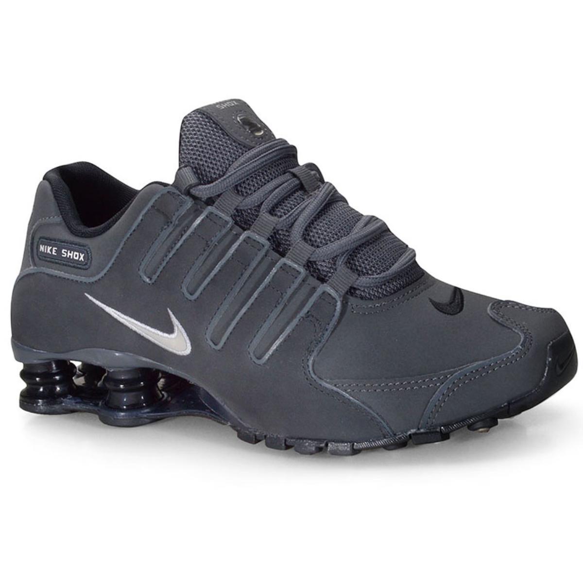 Tênis Masculino Nike 378341-059 Shox nz  Grafite