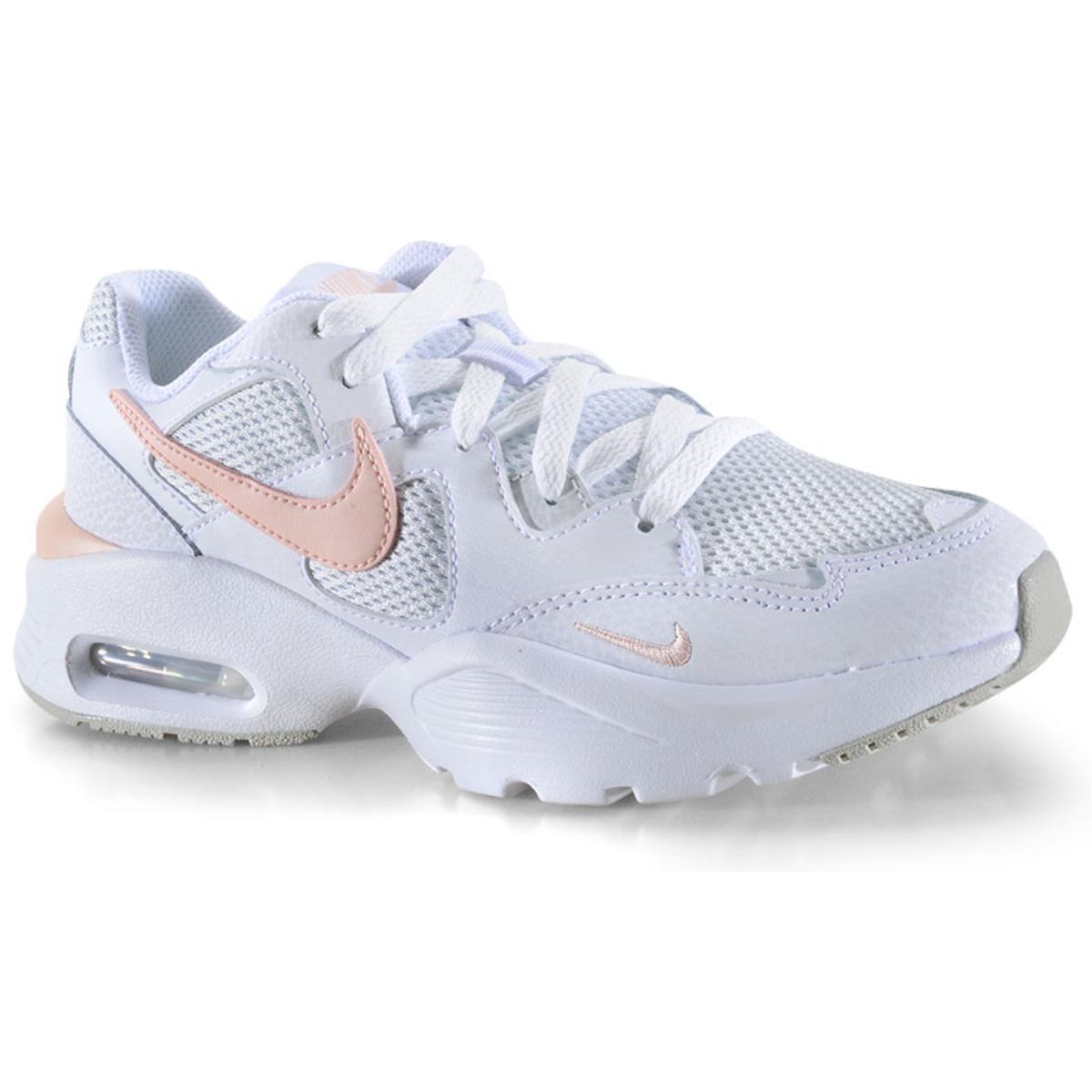 Tênis Feminino Nike Cj1671-101 Air Max Fusion Branco/cinza/pêssego