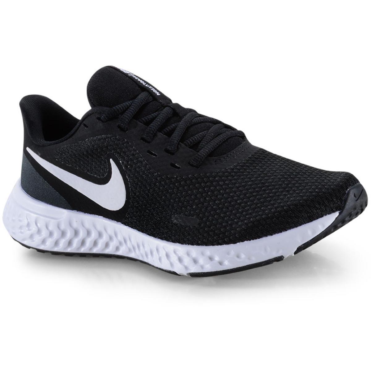 Tênis Feminino Nike Bq3207-002 Revolution 5 Preto/branco