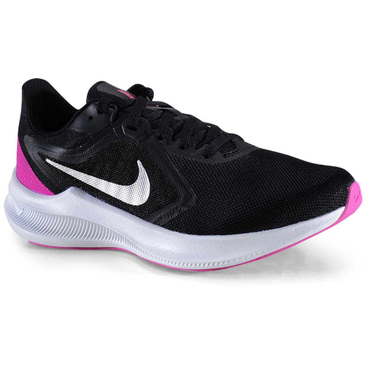 Tênis Feminino Nike Ci9984-004 Downshifter 10 Preto/branco/pink