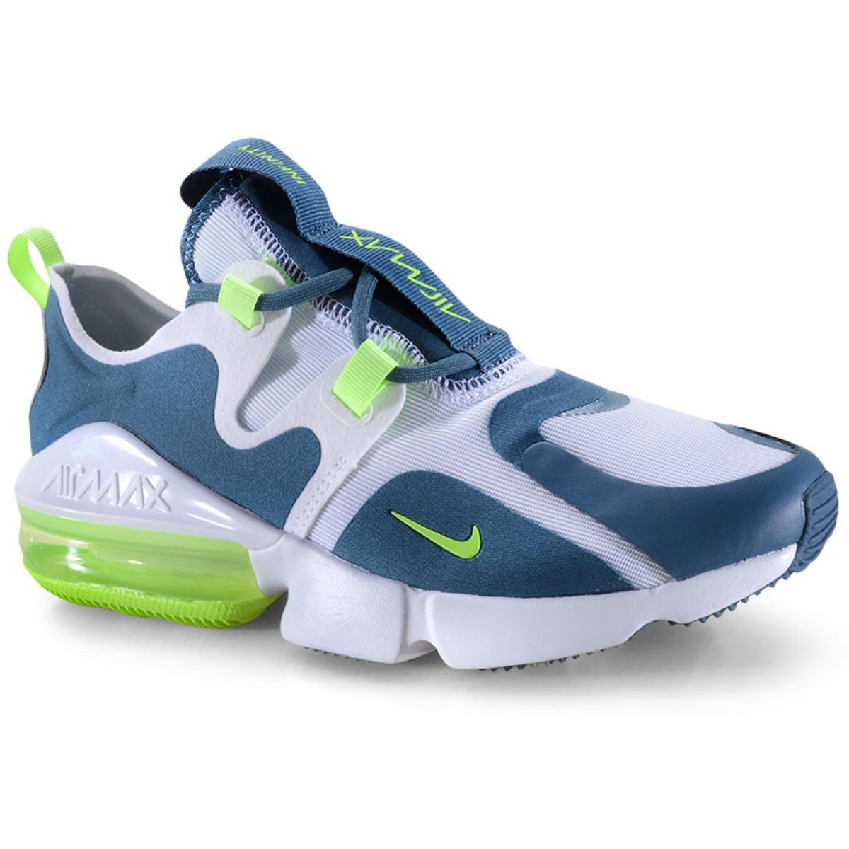 Tênis Masculino Nike Bq3999-104 Air Max Infinity Branco/azul/limão