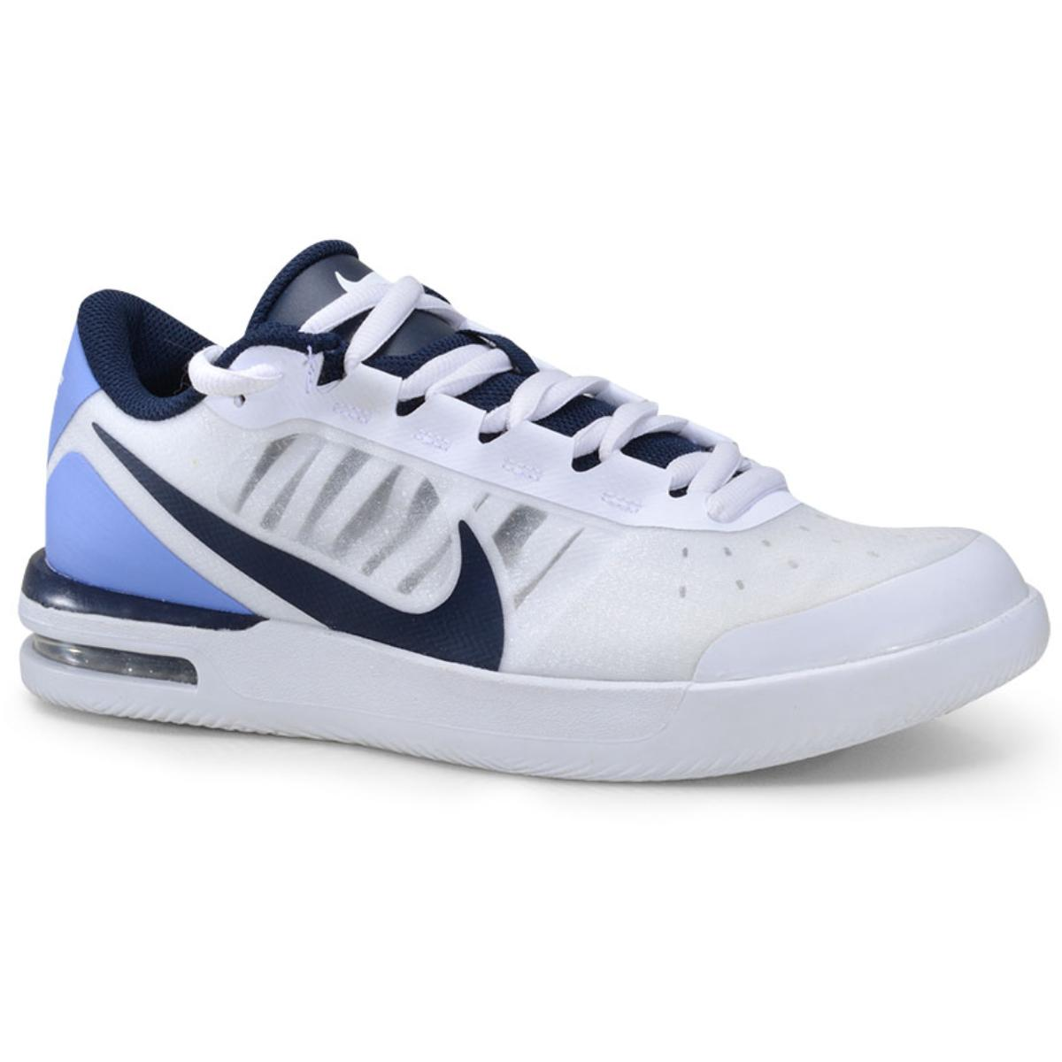 Tênis Masculino Nike Bq0129-106 Court Air Max Vapor Wing Branco/preto/azul