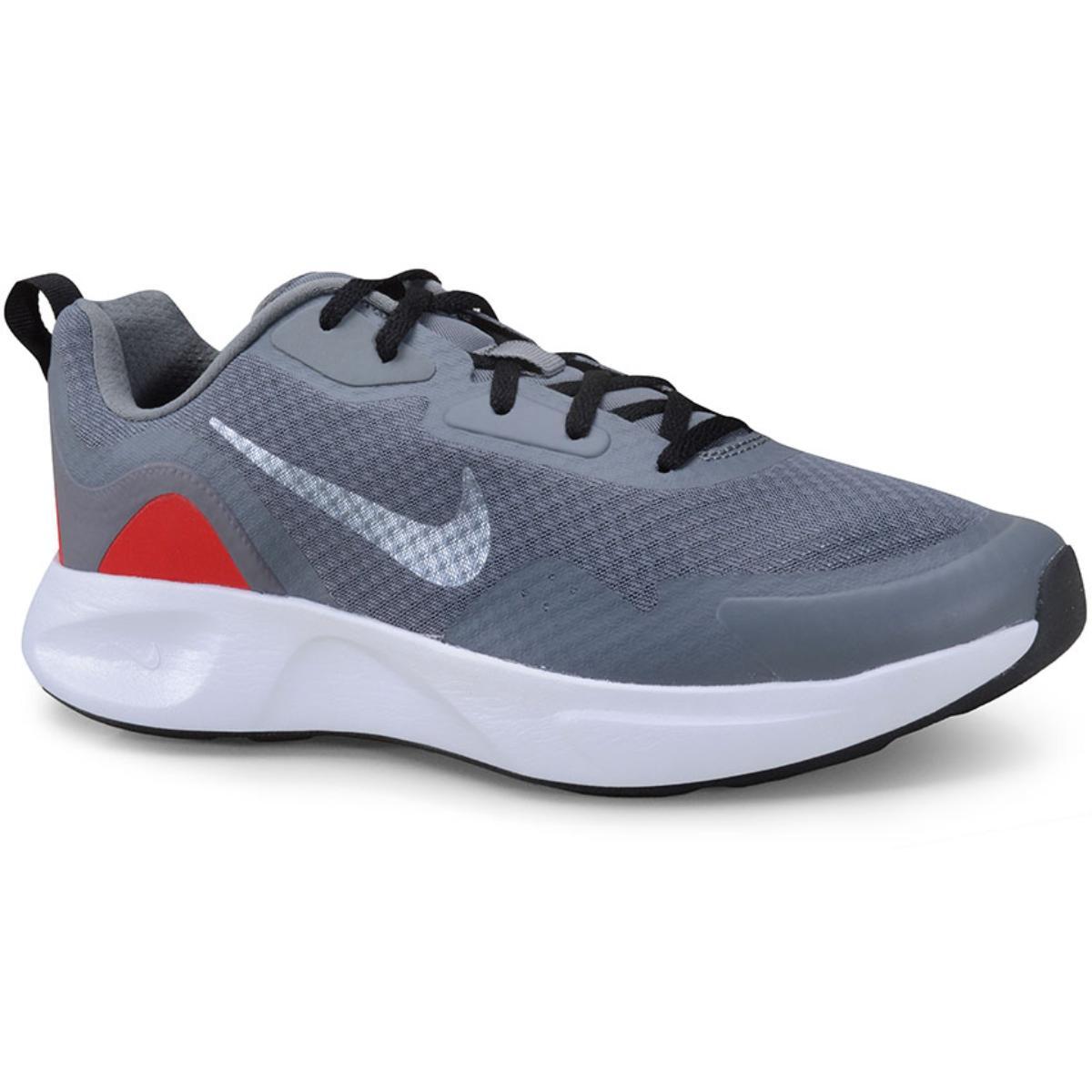 Tênis Masculino Nike Cj1682-001 Wearallday Cinza/vermelho