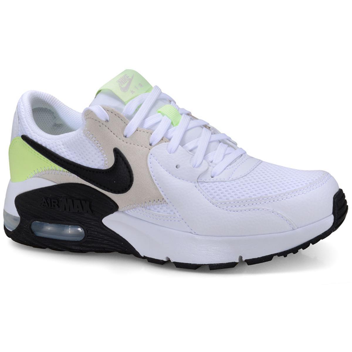 Tênis Feminino Nike Cd5432-105 Air Max Excce Branco/cinza/limão