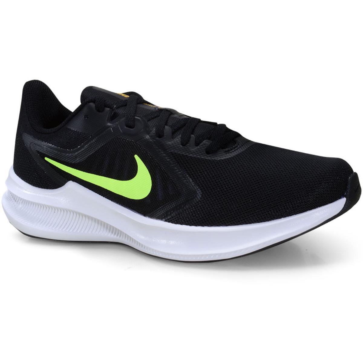 Tênis Masculino Nike Ci9981-009 Downshifter 10 Preto/limão