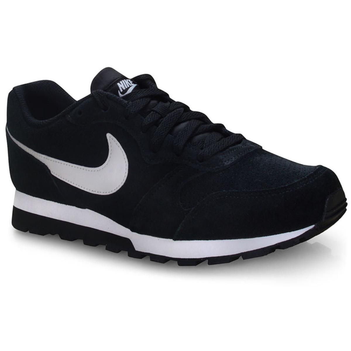 Tênis Masculino Nike Aq9211-004 md Runner 2 Suede Preto/branco