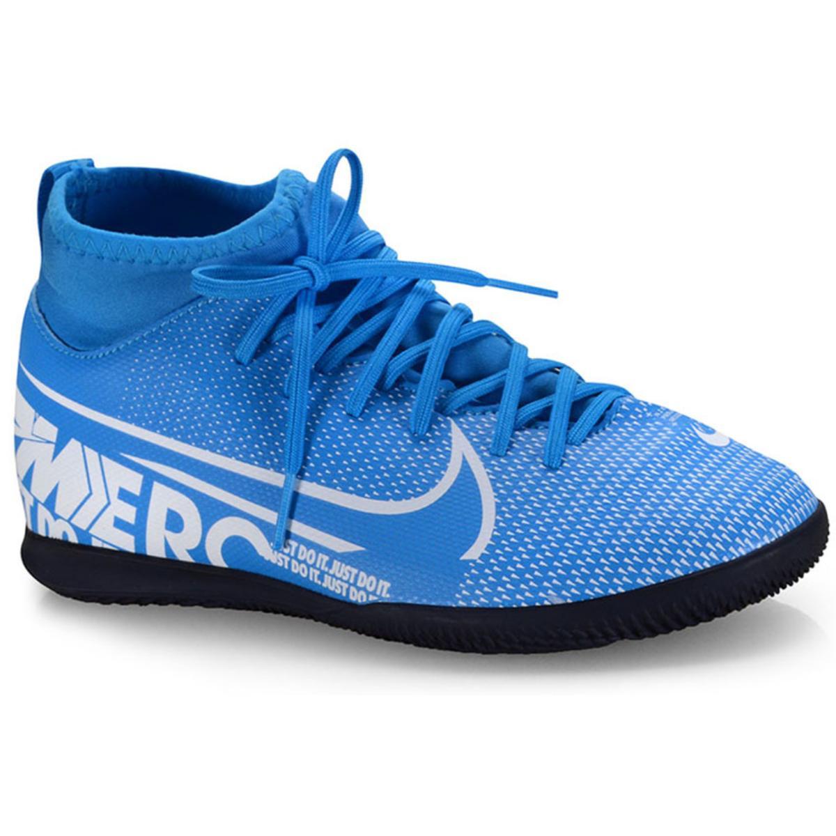 Tênis Masc Infantil Nike At8153-414  jr Superfly 7 Club ic Azul/branco