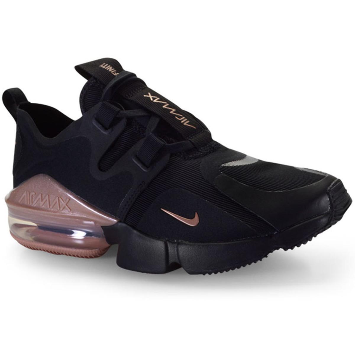 Tênis Feminino Nike Bq4284-001 Wmns Air Max Infinity Preto/bronze